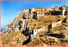 The fortress atop Acrocorinthus