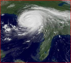 Katrina satellite image