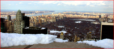 Manhattan from the top of Rockefeller Center