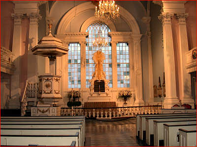 The interior of St. Paul's chapel